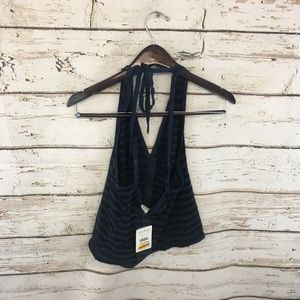 Free People Tops - Free People Mylo Halter Striped Tank Top Blouse